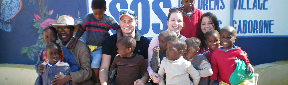 raize the roof gang at the SOS children's village in Botswana!